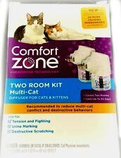 Comfort Zone Two Room Kit Calming Diffuser For multi-cat Cats & Kittens Nib