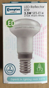 5x Crompton LED R39 Reflector 3.5w ES-E27 Warm White (A2 )