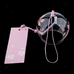 Glass Wind Chime Japanese Style Wind Chime Bells with Label flower