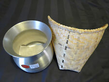 Thai Bamboo Sticky Rice Steamer with Cooking Pot