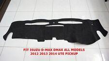 FRONT BLACK DASH MAT ISUZU D-MAX DMAX ALL MODELS 2012-15 UTE PICKUP