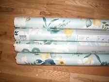 NEXT TEAL WATERCOLOUR BLOOM FLORAL WALLPAPER x 1 ROLL GOES curtains bedset