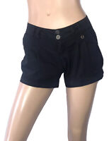 🌻* BERSHKA SIZE 10 BLACK SHORTS WITH SIDE POCKETS