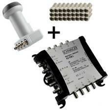 5/8 5 8 Multiswitch Multischalter Sat Verteiler + LNB Quattro + F-Stecker HD TV