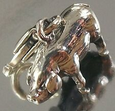 STERLING SILVER CLIP ON hollow PIG Chinese Zodiac CHARM PENDANT oxidised