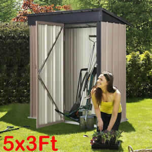 Garden Shed Metal Apex Roof Outdoor Storage Tool Organizer Heavy Duty Store Shed