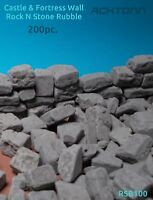 Diorama Multiscale Rock & Stone Block Ruble Set Model 1:100/1:12