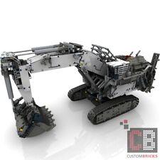 CB construiste receta Control + backhoe mod for lego ® Technic Liebherr 42100