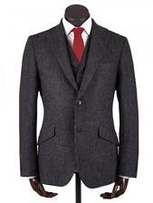 Walker Slater Edward Wool 3 Piece Vest Jacket Suit Dark Gray Mens 40R