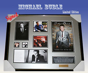 Michael Buble MEMORABILIA SIGNED FRAMED LIMITED EDITION
