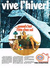 publicité advertisisng   1970   ESSO  fuel chauffage