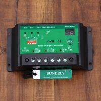 NEW 10 AMP SOLAR CHARGE CONTROLLER REGULATOR 12/24V PWM 10A