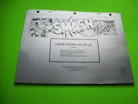 Smash TV Williams Original 1990 Video Arcade Game Repair Manual With Schematics