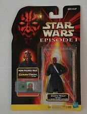 """1998 Star Wars The Power Of The Force """"Darth Maul"""" Comm Tech Action Figure Moc"""