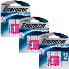 24 x Energizer Ultimate Lithium AAA Batteries (8-Pack x 3) L92SBP-8 Exp 2037