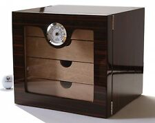 Cigar Humidor Cabinet with Black Grain Cigars Hygrometer Holder to fit 100 Cigar