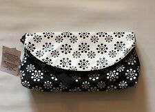 BNWT Disney Parks Mickey Icon Polka Dot Blossoms Ladies Wristlet Clutch Bag