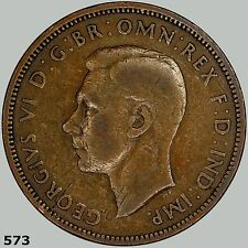 1945 Great Britain 1/2 Penny KM# 844