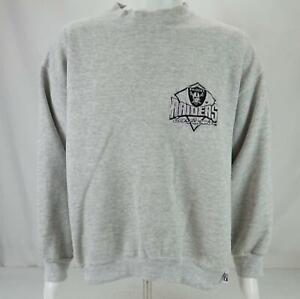 VTG Logo 7 Los Angeles Raiders Embroidered Sweatshirt Gray Men's XXL