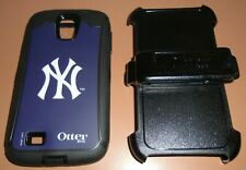 NY Yankees OtterBox Defender case for Samsung Galaxy S4 + Holster Belt Clip, NEW