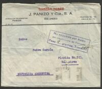 PERU to ARGENTINA 1938 Cover Insufficient rate for Airmail ICA Cancel