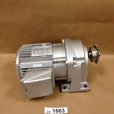 Fuji MGX1MS02A050AZ Geared Motor 3 Phase 200 W Output 4 Pole 50 Hz 1.1 Amp
