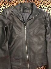 Auth Jitrois Black Satin Lined Lambskin leather Jacket 6/8 Made In France