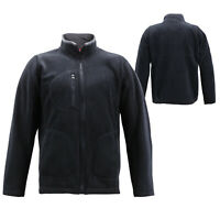 Men's Full Zip-Up Collared Sweatshirt Lightweight Warm Polar Fleece Jacket