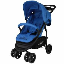 Crown Buggy Blau Kinderwagen Sportwagen Kinderbuggy Jogger Reisebuggy Sportbuggy
