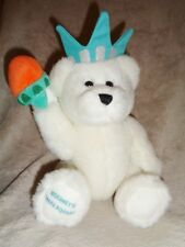 "Bear Hershey's Times Square White 9"" Stuffed Plush Liberty"