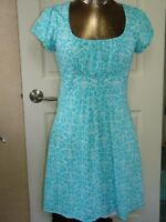 Maurices Women's Size M (34) Blue & White Sundress Summer Dress Lined 202-12082