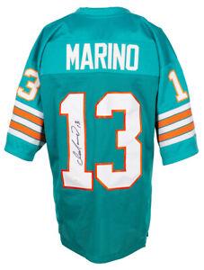 Dan Marino Signed Custom Teal Pro Style Football Jersey JSA ITP