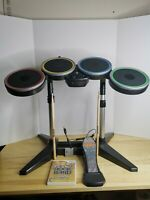 Harmonix Rock Band Wii Drum Set NWMDS2 Bundle, Sticks, Pedal, Game & Dongle