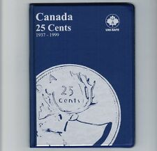 Uni-Safe Canadian Canada 25 Cents Quarter Coin Collection Album Folder 1937-1999