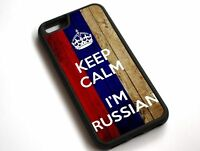 For iPhone XS Max Keep Calm I'm Russian, Russia Flag Case Cover #10089