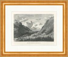 Auf dem Sertigpaß Schweiz Porchabellagletscher Keschhütte F/_Vintage 02036 Rahmen
