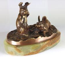 Antiquitäten & Kunst Bronze Bronze Hase Als Schwefelholzhalter Zahnstocher Halter Frankreich Um1880 Marmor