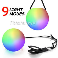 4PCS Colorful LED Glow POI Thrown Balls Light Up For Belly Dance Hand Props OZ