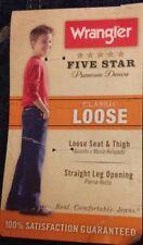 NEW Wrangler Classic Loose Straight Leg Black Jeans- Adjustable Waist Band SZ 4