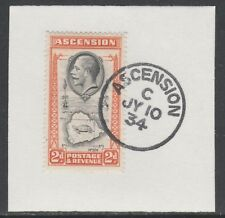Ascension 5572 - 1934 KG5 2d  on piece with MADAME JOSEPH FORGED POSTMARK
