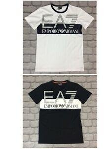 EA7 EMPORIO ARMANI BOYS AGE 14 BLACK / WHITE T SHIRT SHORT SLEEVE CHILDRENS AD