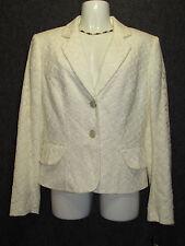 ANTONIO MELANI Off White Cotton Lace Jacket Blazer SZ 8 NEW