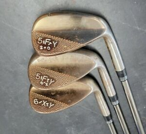 Corey Paul forged wedges 52, 56 ,60 Oil Can Recoil F4 Stiff graphite barely used