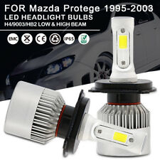 Car LED Headlight Bulbs H4 9003 HB2 High Low Beam For Mazda Protege 1995-2003