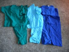 3 Unisex Sets of Scrubs Tops and Pants Size 2x and 3x Nice Used Condition 3C