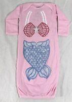 Newborn Pink Sleeper mermaid baby romper sleeping pajama suitu