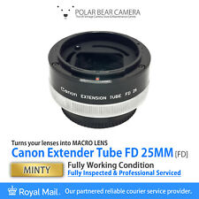 ⭐SERVICED⭐ CANON Extension Tube FD 25mm Macro fits 50mm/100mm Lens + Cap [MINTY]