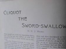 Chevalier Cliquot Sword Swallower Circus McLane Rare Old Victorian Article 1898