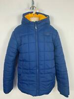 BOYS PUFFA BLUE CASUAL WINTER PADDED HOOD SCHOOL RAINCOAT JACKET KIDS AGE 12/13