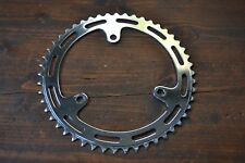 "Vintage 116mm BCD 49T 3 Bolt Chrome Steel Chainring 3/32"" 1970's"